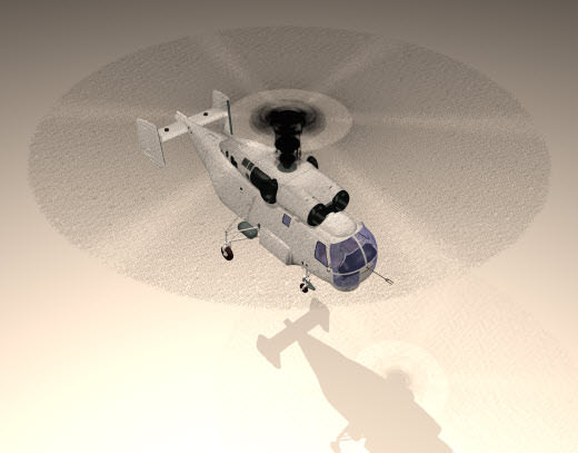 【3D MAX教學】直升機螺旋槳動態模糊效果