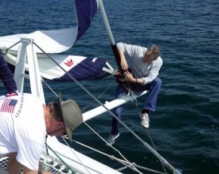 Fixing sails