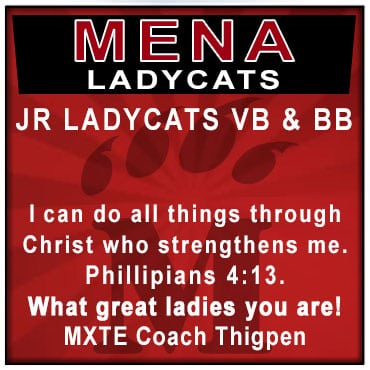 Mena Bearcats Support Your Player, The Bearcats & BFI. Purchase Your Support Block for $40.00.