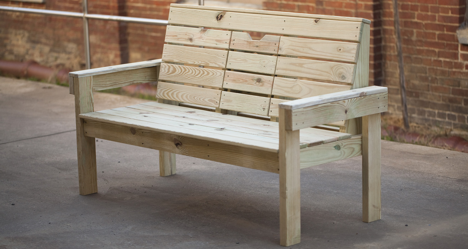 Outdoor Lazy Bench - Unfinished - Pressure Treated Wood