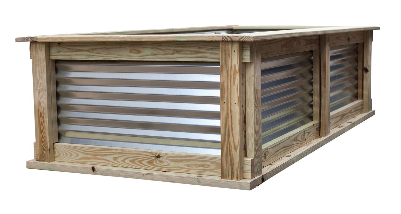 Large Garden Box - Unfinished - White Background