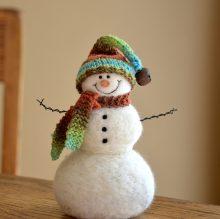 Snowman needle felted by Teresa Perleberg