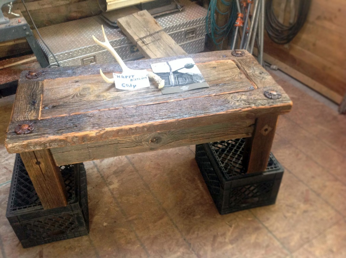 Refurbished Industrial Coffee Table Bearcreek WoodWorks