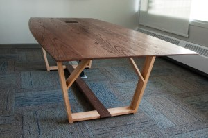 Salvaged Red Oak Students Association Boardroom Table