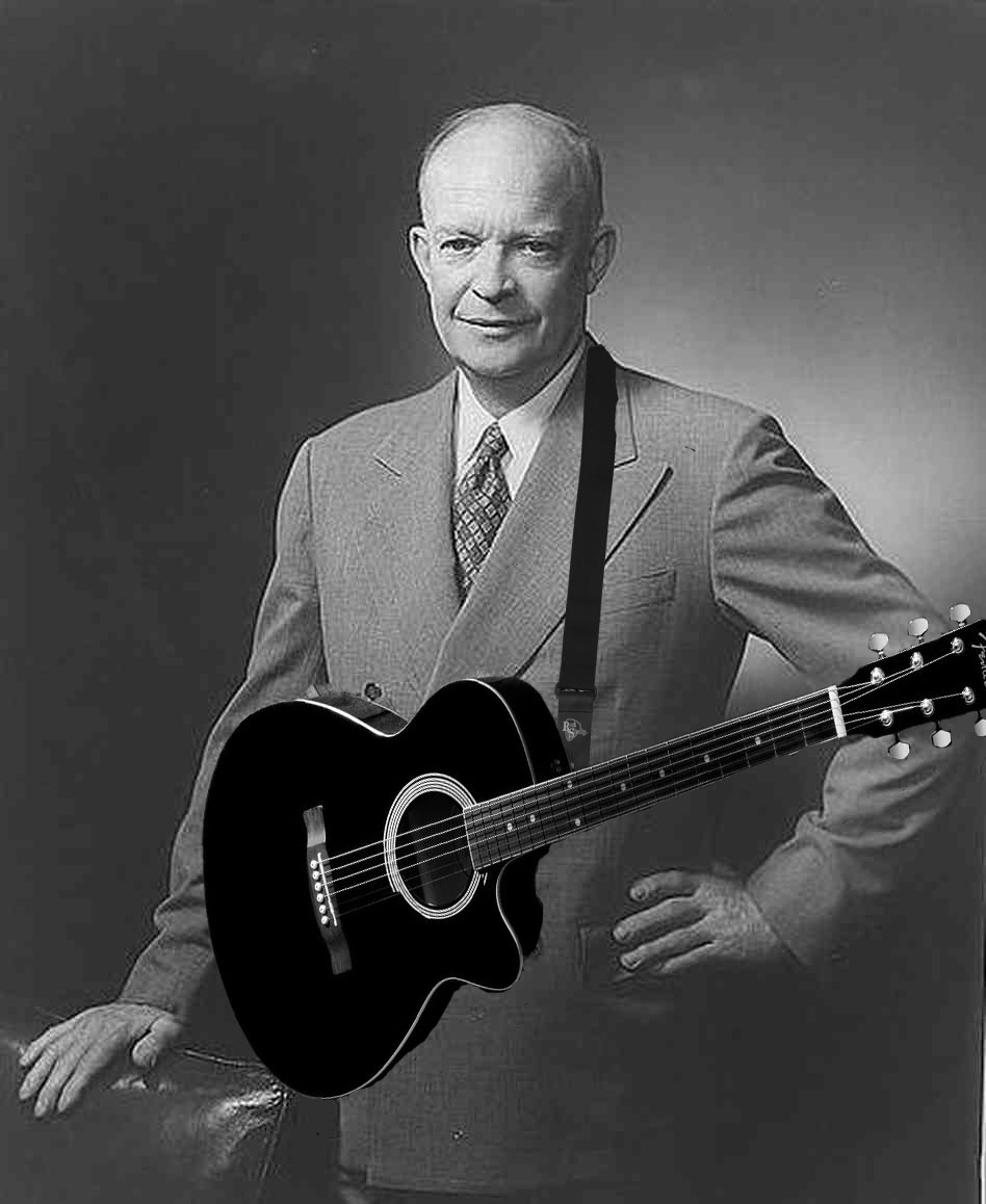 Eisenhower with a guitar