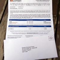 Domain Name Renewal scam (?)