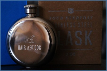 """3oz Flask, """"Hair of the Dog"""" by Izola"""