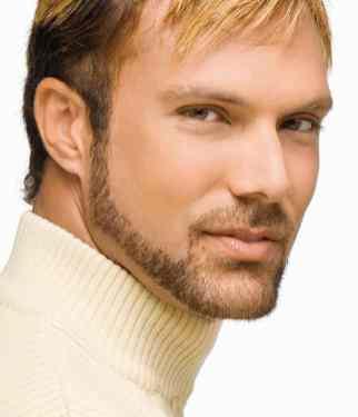 Sideburn chin strap beard