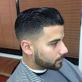 thicker chin strap facial hairstyle