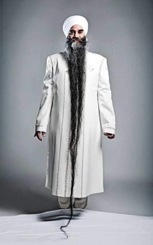 Sarwan Singh - 2nd longest facial hair world record