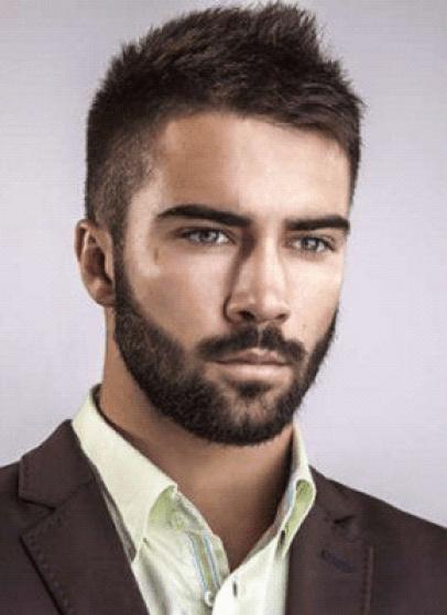 6 Medium Stubble Beard Style