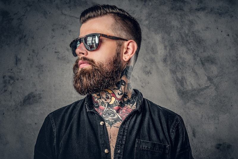 thick and healthy beard