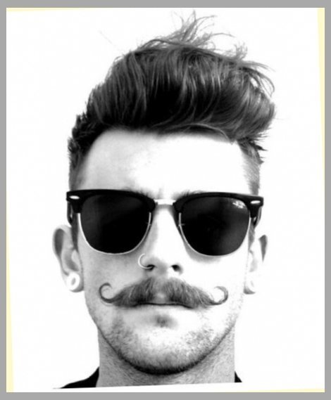 Modern Mexican mustache with Handlebar