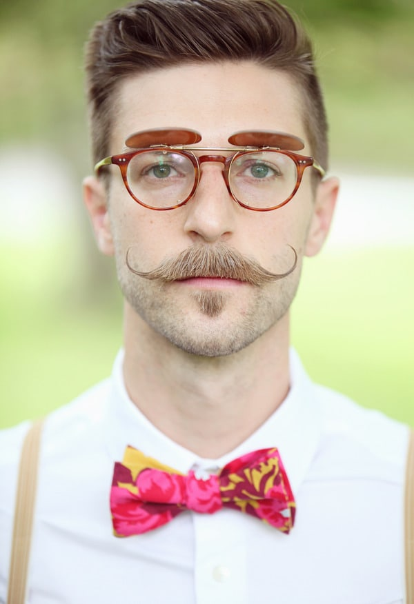 handlebar mustache and soul patch