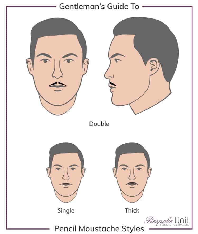 pencil mustache variations