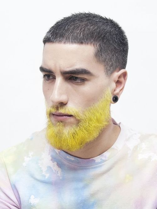 nice Black and Yellow colorful beards