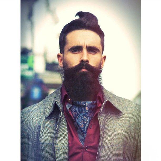 beautiful hipster mustache and beard
