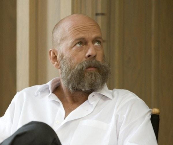 long beard bald head
