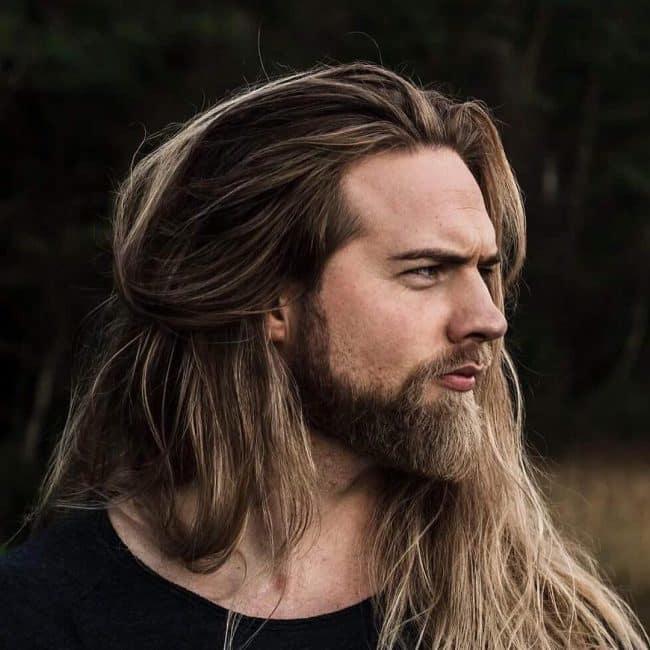 long blonde beard and hair