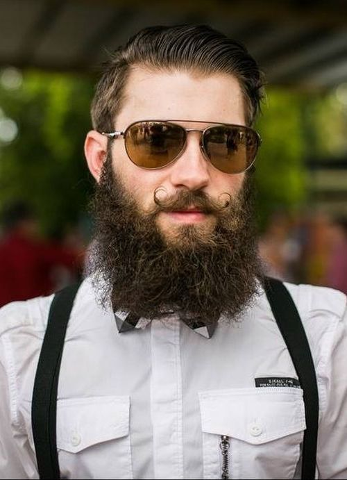 Mustache with Curly Beard Style