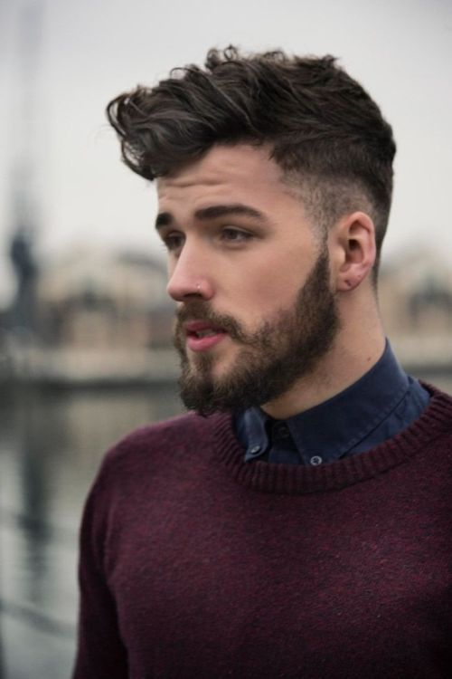 cool Curly Beard Style for young boy