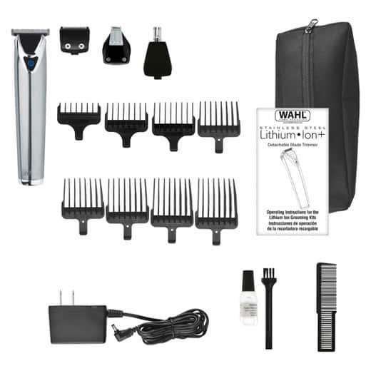 Wahl Clipper Stainless Steel Beard Trimmer Kit #9818