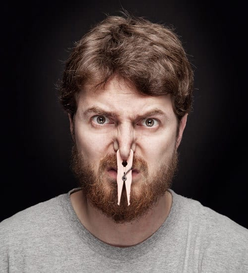 trim when your beard smells bad