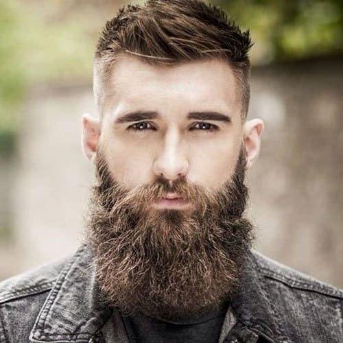 faded sideburn beard