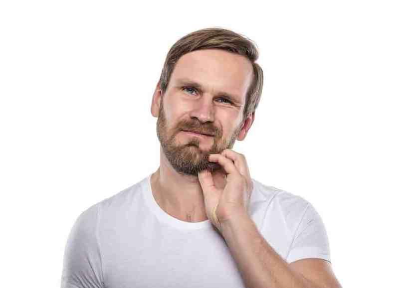 Lack of nourishment in beard