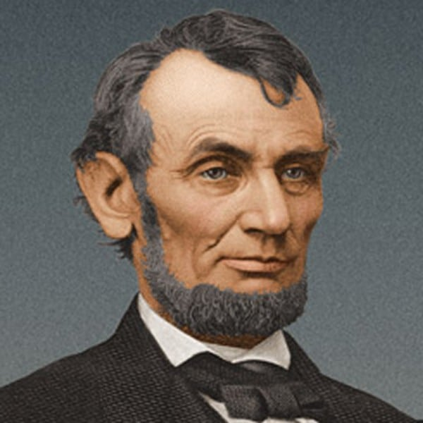 famous Abraham Lincoln's chinstrap beard
