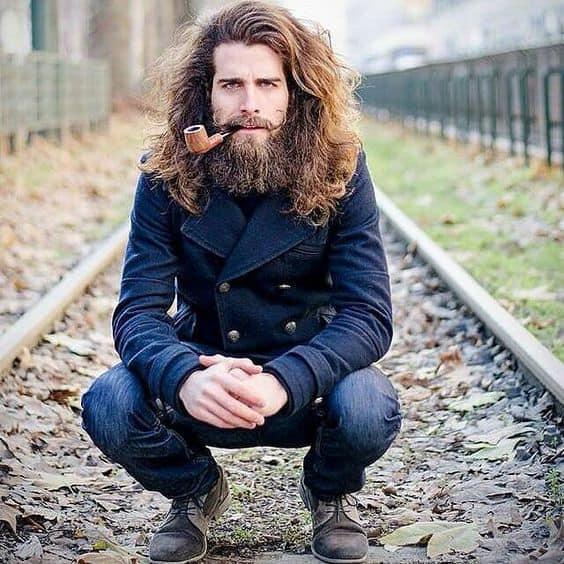 Handlebar Mustache & Amish Beard