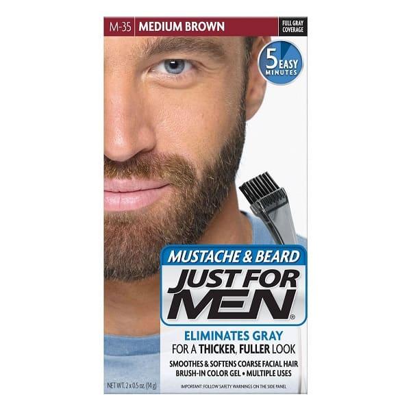 JUST FOR MEN Medium Brown Color Gel for Mustache & Beard