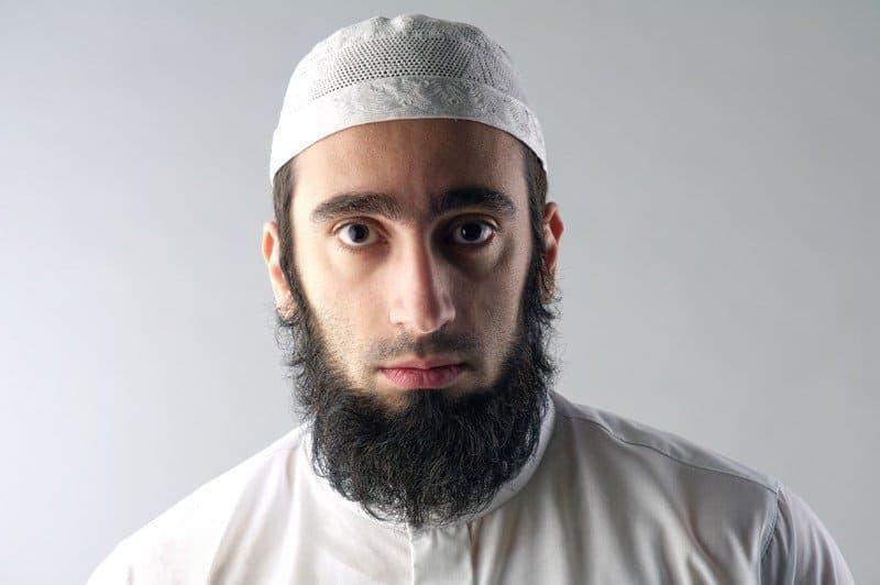 religious arabic man with beard