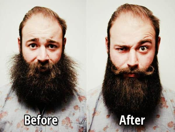 Beard oil Before After