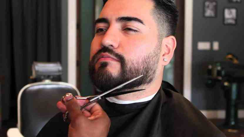 trim the knots of beard to make it soft