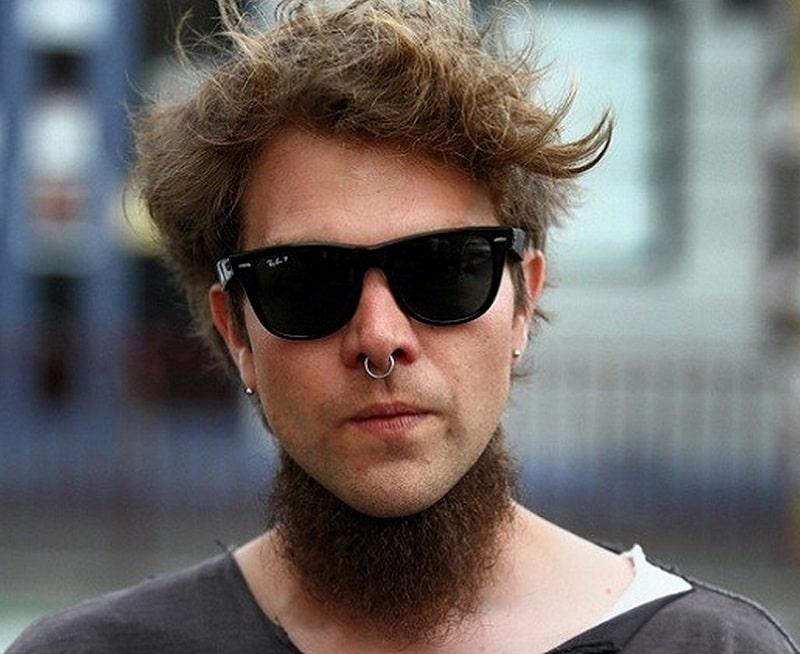 neck beard without mustache