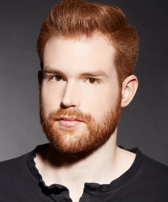 men with ginger hair and beard