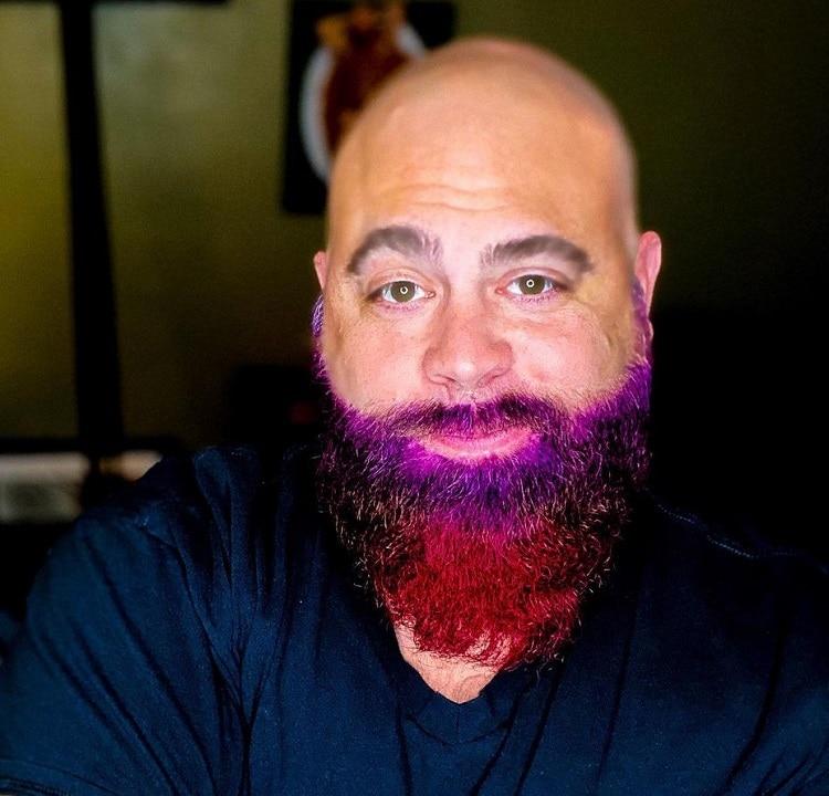 long colored beard