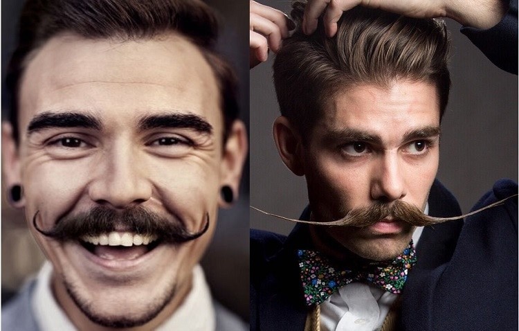 handlebar mustache for thin face