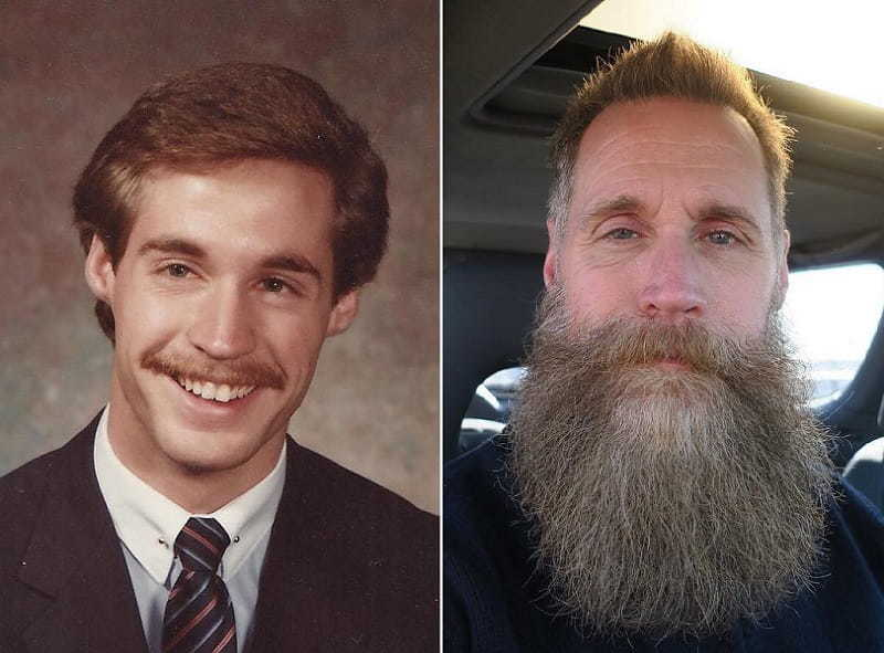 men with beard before and after look