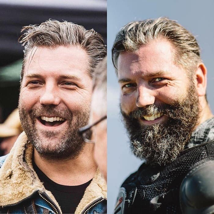 full beard before and after look