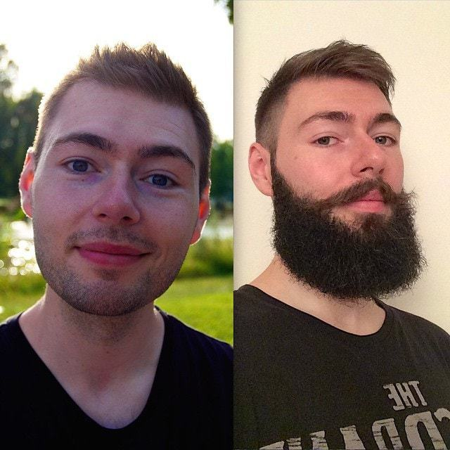 beard before and after look