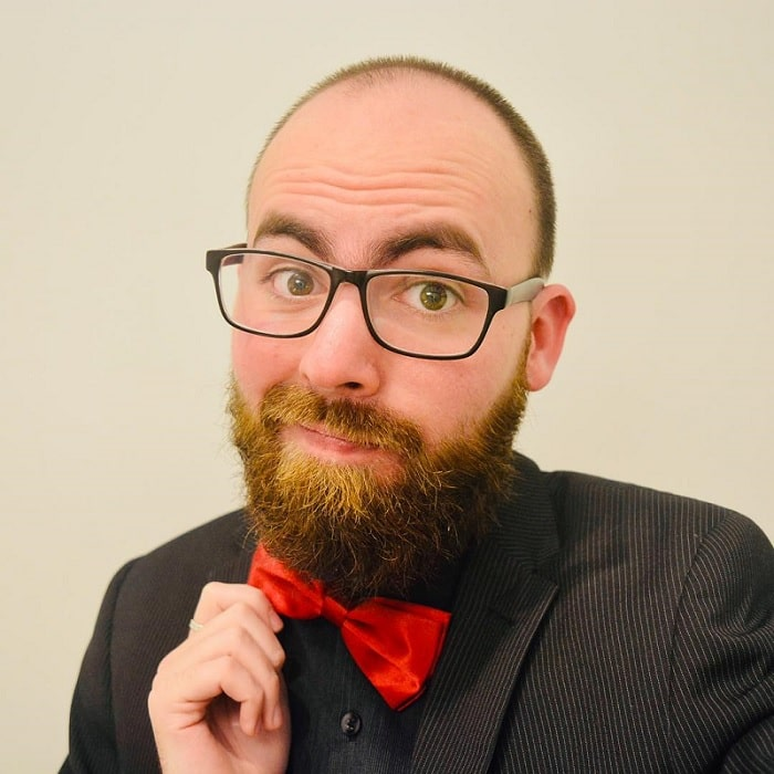 gentlemen style buzz cut and beard combination
