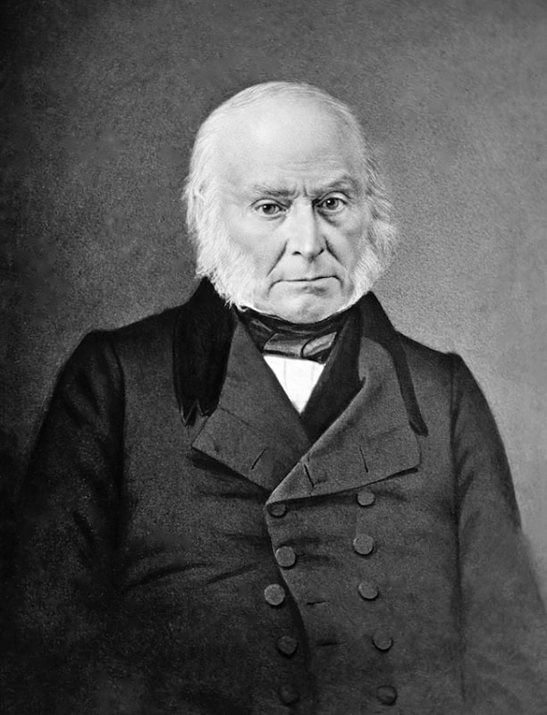 John Quincy Adams with Muttonchop Beard