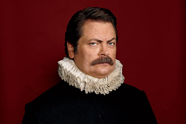Nick Offerman walrus mustache
