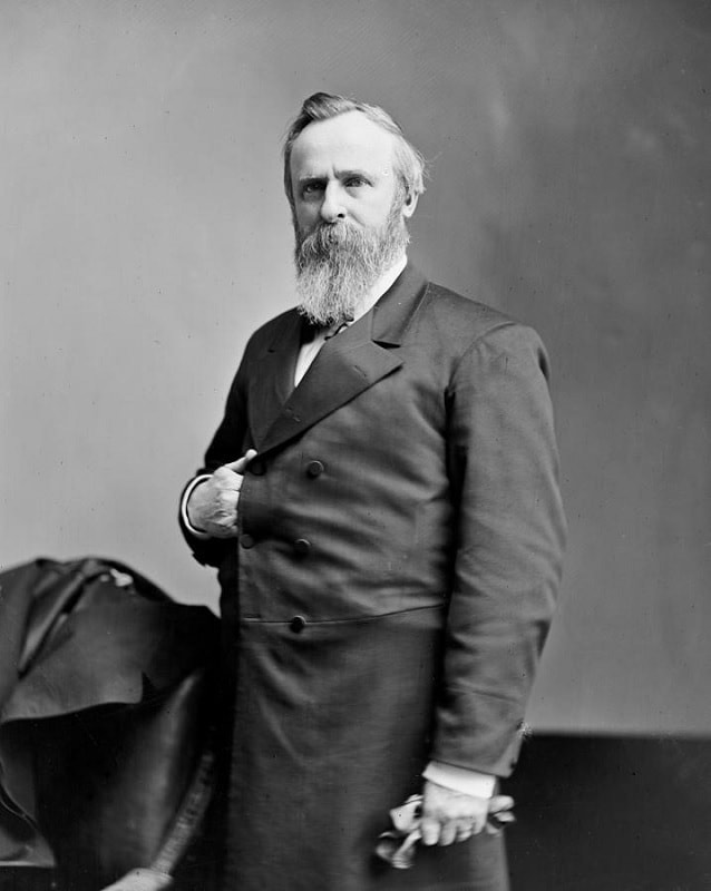President Rutherford B Hayes with full beard