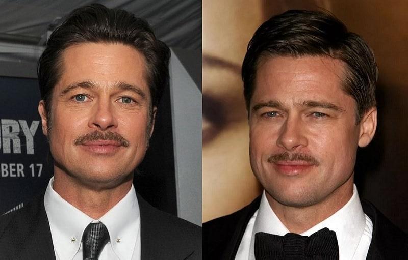 Brad Pitt's Pencil Mustache