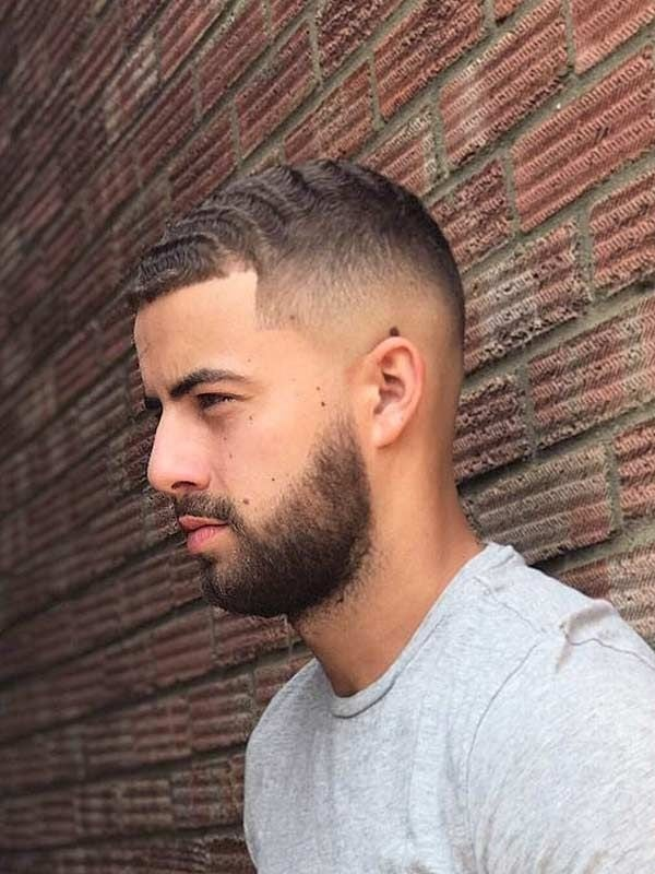 buzz cut fade with beard