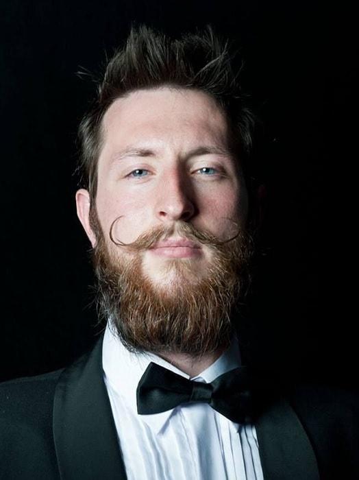Irish Beard with Handlebar Mustache