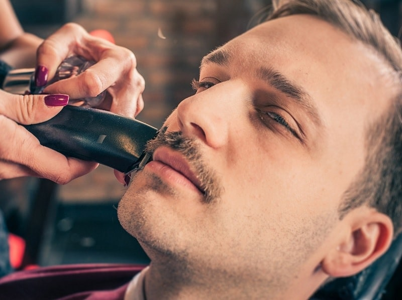 mustache grooming